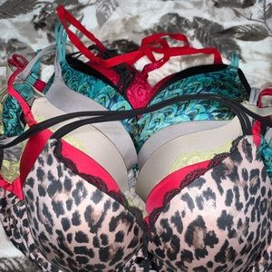 Victoria's Secret 36B Push-up 7 Bras Bundle